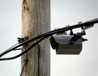 Wireless Device installed on power line.
